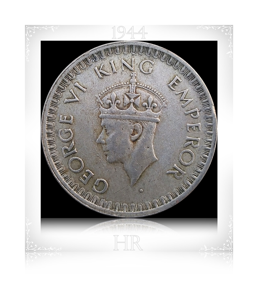 British India 1944 1/2 Half Rupee King George VI - Worth Value Asset