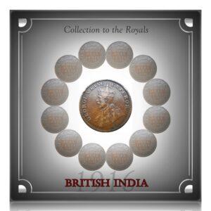1916 1/4 anna British India King George V Rare Mint - # Worth Keeping