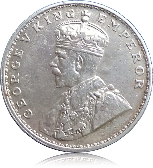 1922 1 Rupee Silver Coin British India King George V Bombay mint (O)