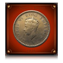 1939 1/4 Rupee King George VI - Worth on Silver /Original