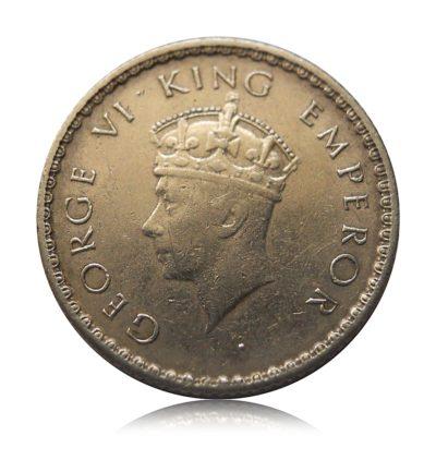 1939 1/4 Rupee King George VI - Worth on Silver /Original