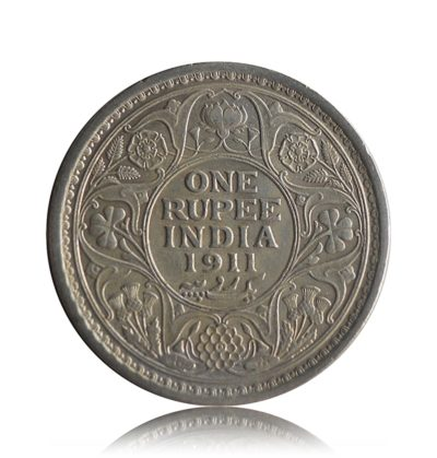 King George V One Rupee 1911 Calcutta mint