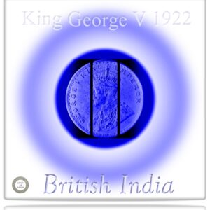 1922  1 Rupee Silver Coin British India King George V Bombay mint - RARE