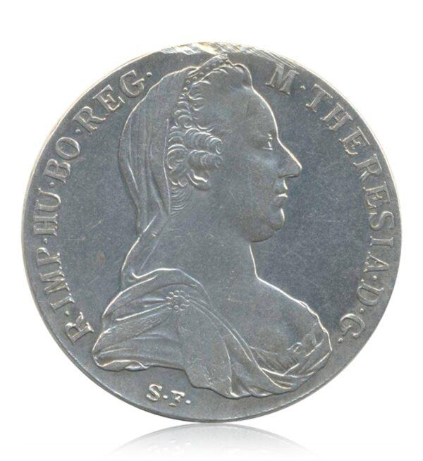1780 1 Queen Thaler Maria Theresia Austria - Trade Coinage Silver Coin