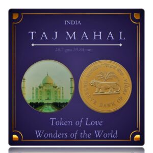 Taj Mahal - Wonders of the World - Crown Token Coin - Worth Gifting -