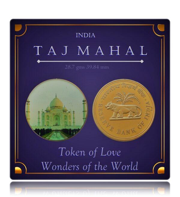 Taj Mahal - Wonders of the World - Crown Token Coin - Worth Gifting -