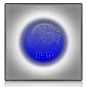 1840 One Rupee Victoria Queen Continuous Legend Bombay Mint - RARE