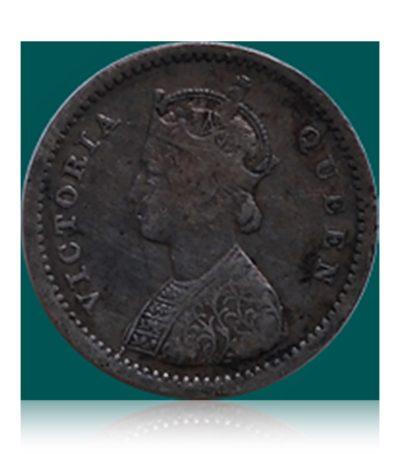 1862 British India 2 Annas Queen Victoria - RARE COIN