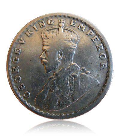 1930 1/2 Half Rupee Silver Coin George V King Emperor Calcutta Mint - RARE