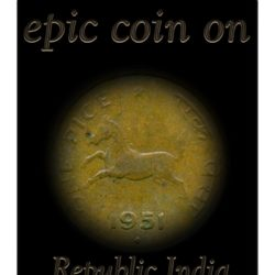 1951  1 One Pice Horse Coin Republic India Bombay Mint
