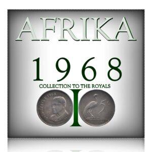 1968 5 CENTS - CHARLES ROBBERTS SWART - SUID-AFRIKA ( NICKEL) - RARE