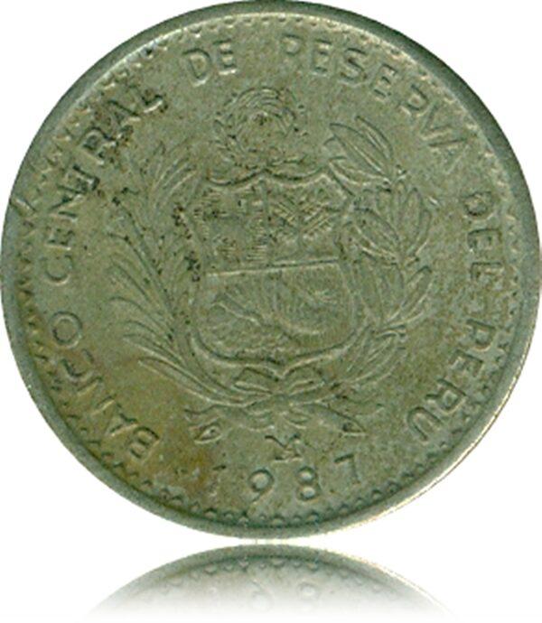 1987 Banco Latin American -Peru - The Peruvian currency -Rare MARKED TOKEN COIN
