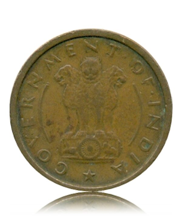 1953 1 One Pice Horse Coin Republic India Bombay Mint