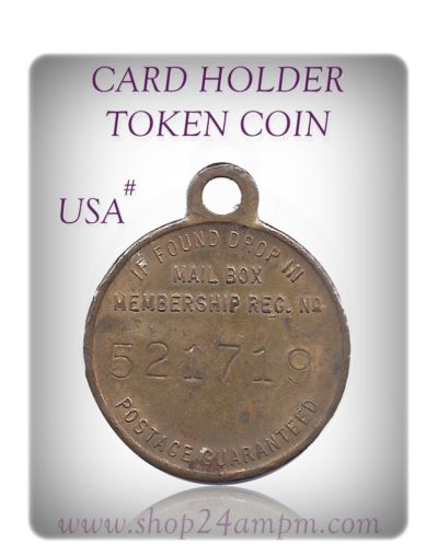CARD HOLDER TOKEN COIN #USA    #12
