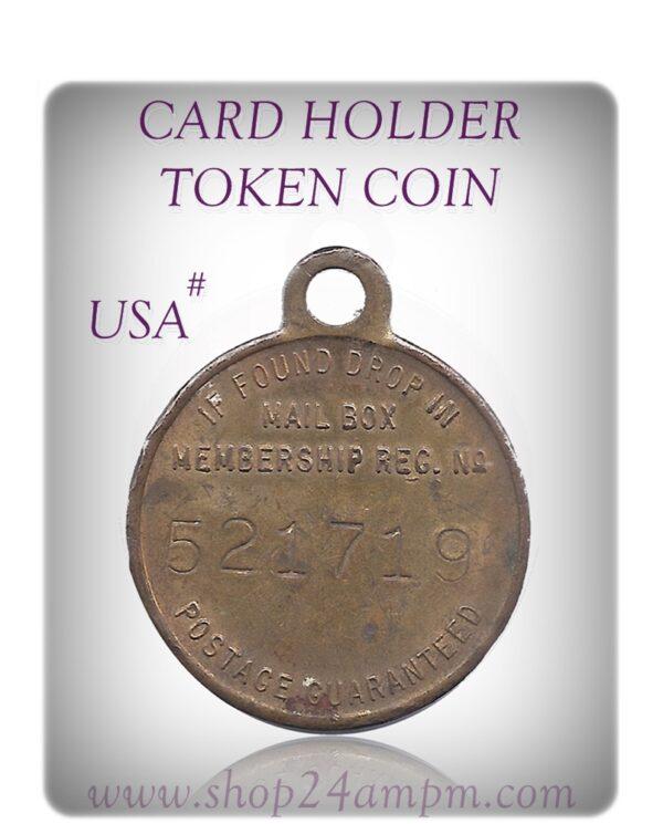 CARD HOLDER TOKEN COIN #USA  #12