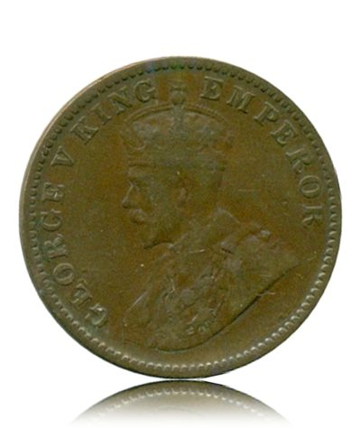 British India 1935  1/4 Quarter Anna King George V Calcutta Mint