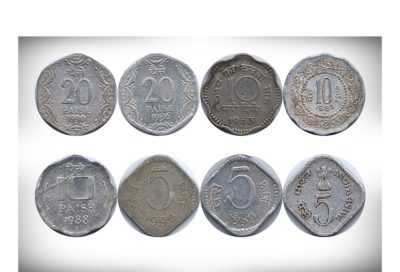 Mixed Republic India Old Coins - 8 Coins