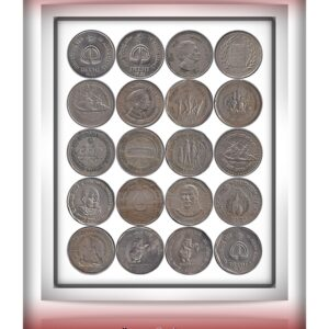 Republic India 20 set of Coins On Sheet On Cover - Worth Collecting
