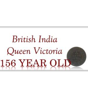 1862 British India 1/12 Twelve Anna Queen Victoria Bombay Mint - Rare Coin
