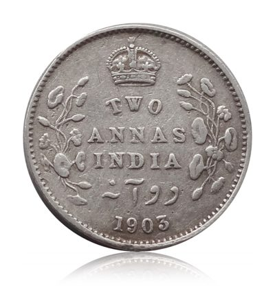 1903 British India King Edward VII 2 Annas Calcutta Mint - Rare