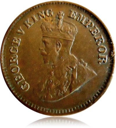 1925  1/2 Half Pice Coin British India Calcutta Mint - Best Buy
