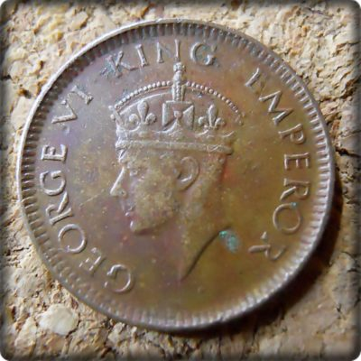 1939  1/12 Twelve Anna British India King George VI Bombay Mint - Best Buy