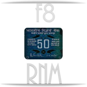 F8 – 50 Rupee UNC Note 'A' Inset Sign R.N.Malhotra – RARE