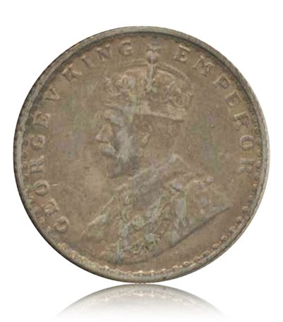 1936  1/4 Quarter Rupee Silver Coin British India King George V Calcutta Mint – RARE