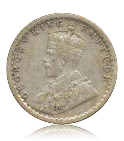 1936  1/4 Quarter Rupee Silver Coin British India King George V Bombay Mint – RARE