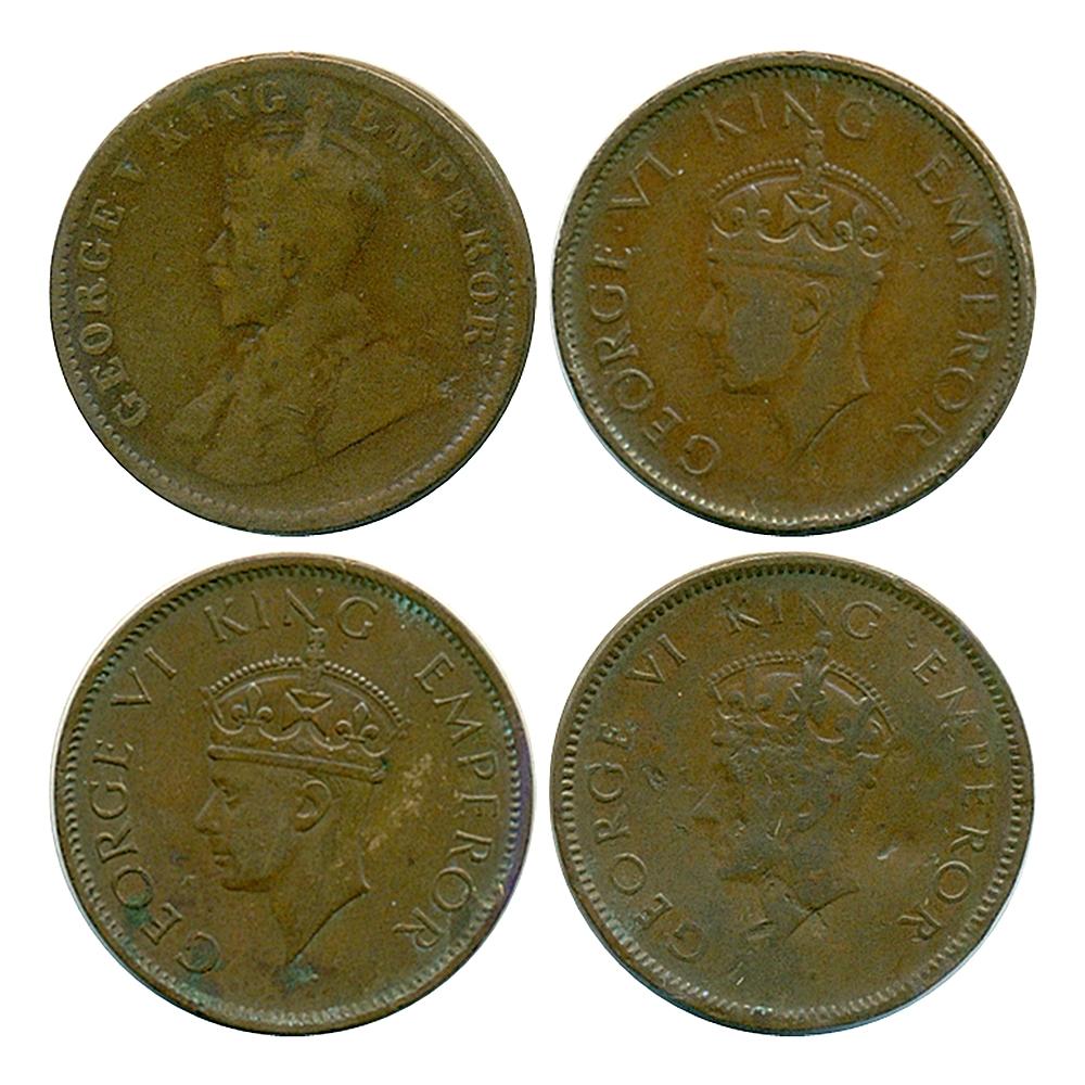 1913 1939 1940 1/4 Quarter Anna British India King George V & VI Calcutta & Bombay mint