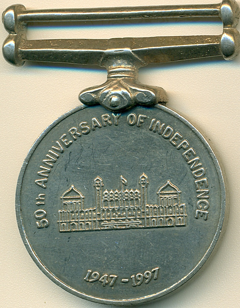 50TH ANNIVERSARY OF INDEPENDENCE - 1947-1997 - RARE MEDAL