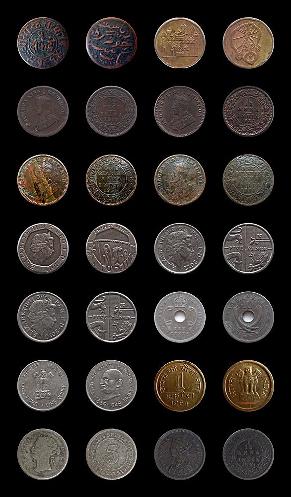 Rare Mugual Token Foreign Queen King Republic Indian Coins