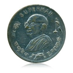 Gandhi (SUPERMAN ) Commemorative issue Indian Idependance Movement Token Medal