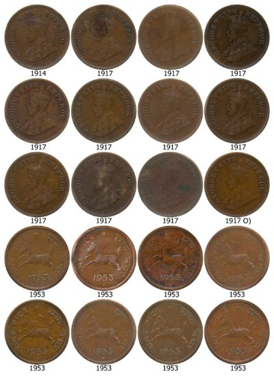 OLD COPPER COINS - British India & Republic India Mixed Lot Coins - 52 Coins