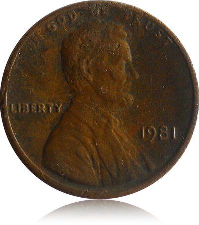 1981 1 CENT RARE UNITED STATES OF AMERICA BRONZE COIN