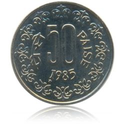 1985 50 Paise Copper Nickel Republic India Coin Korea Mint - Best Buy
