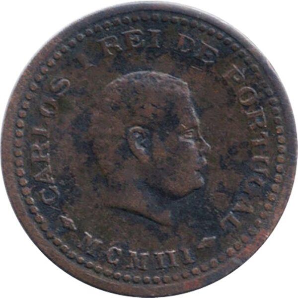 Tanga India - Portuguese Carlos MCMIII 1903 1/12 Tanga - Worth