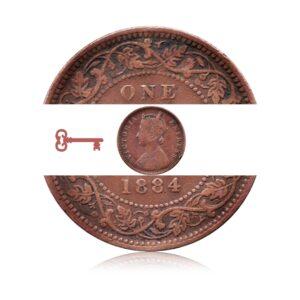 1884 1/4 Anna Queen Victoria empress Calcutta Mint - Worth Buy