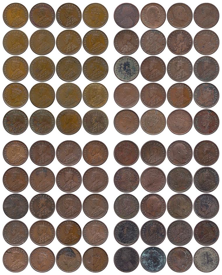 80 Copper Coins - Queen Victoria King Edward VII George V VI - RARE