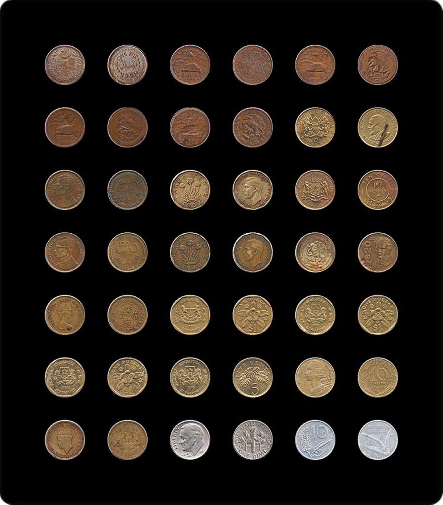 Rare Mugal Copper Coins -20 Coins Lot