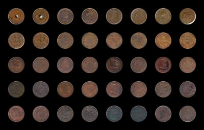 Rare Mugal Copper Coins -20 Coins Lot