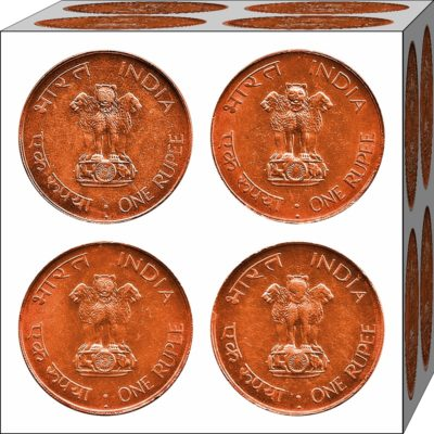 1969 1 Rupee Coin Mahatma Gandhi Bombay Mint - 4 Coins Best Buy