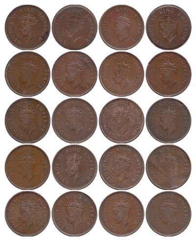 1938 1/4 Anna George VI King & Emperor Bombay Mint – UGET – 20 Coins
