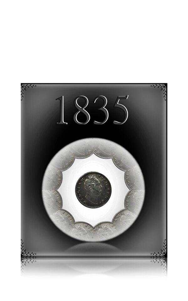 1835 1 Rupee Silver Coin East India Company King William III - RARE COIN