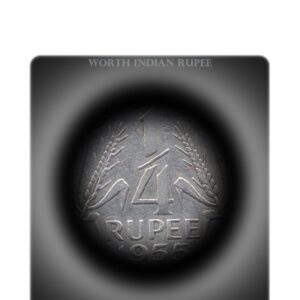 1955 1/4 Rupee Republic India Coin Calcutta Mint -Nickel coin