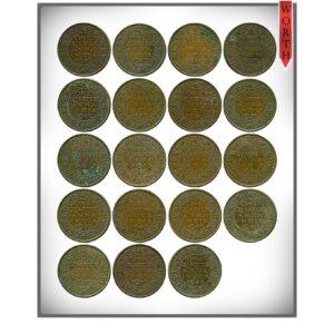 1940 1941 1/4 Quarter Anna British India King George VI Emperor Calcutta & Bombay Mint - 19 Coins