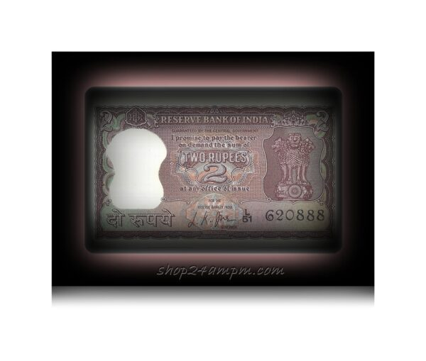 """B-8 1968 2 Two Rupee Note Sign By L.K.JHA Ending Fancy Number """"888"""""""
