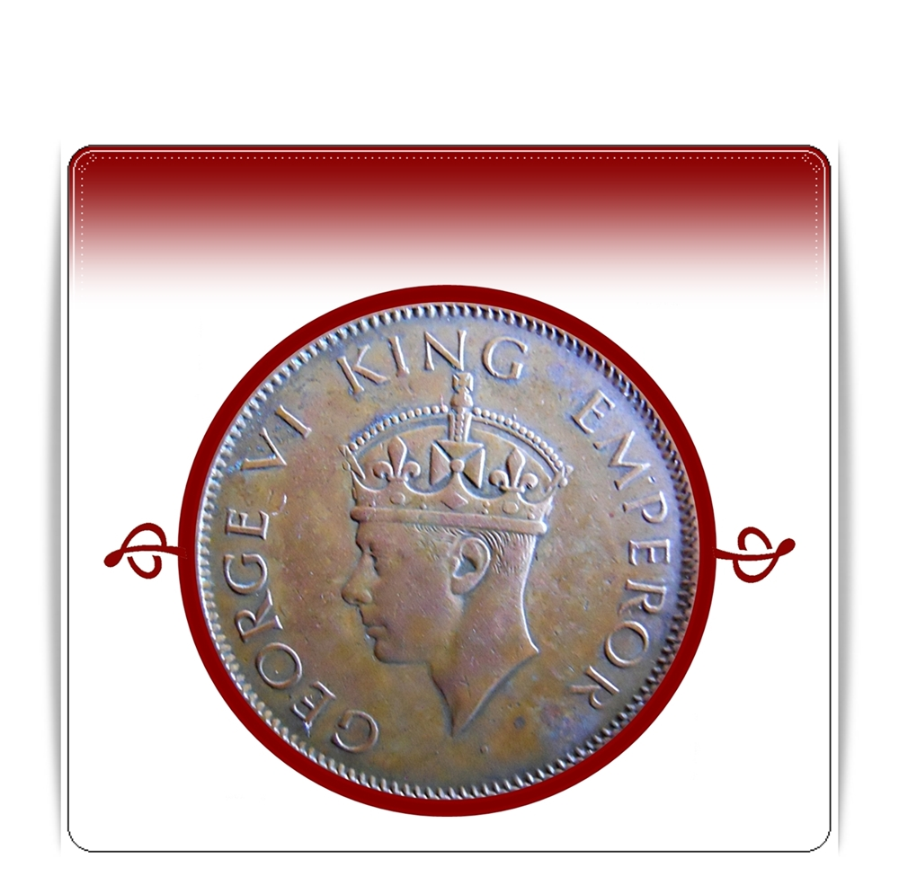 1942  One Quarter Anna George VI King Emperor Bombay Mint