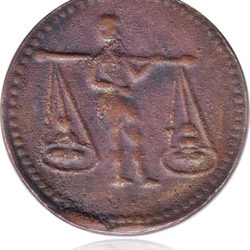Token Coin 1842 1/2 Half Anna - East India Company