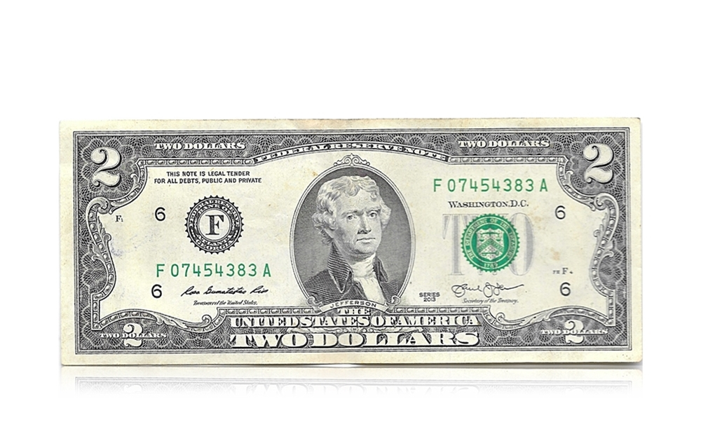 The United States of America 2 Dollars Foreign Note